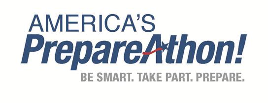 America's PrepareAthon logo with the words: Be Smart, Take Part, Prepare.
