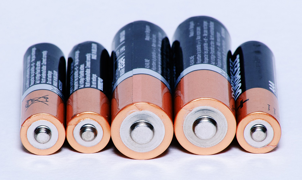 Various sizes of batteries