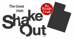 Great Utah ShakeOut logo with Be Ready Utah logo incorporated.