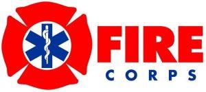 Fire Corps logo (with a firefighter/EMT emblem)