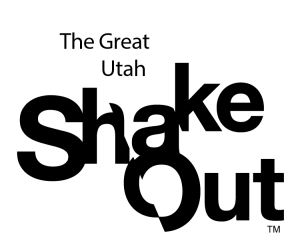 Graphic of The Great Utah ShakeOut logo.